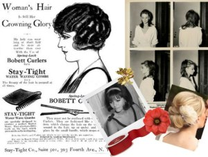 Christmas vintage hairstyling